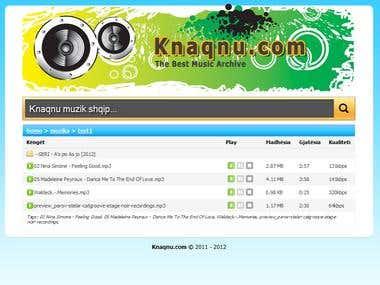 Music Sharing website