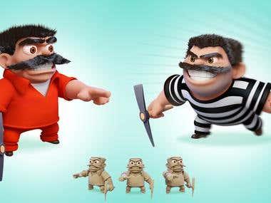 Inmate 3D Cartoon Character