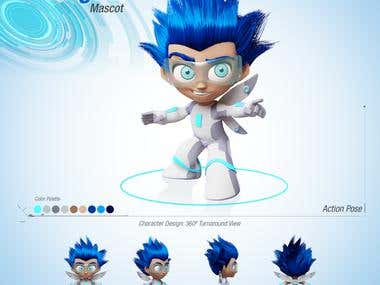 AI Mascot 3D Cartoon Character