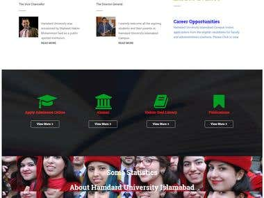 WordPress: Educational Institute Website.
