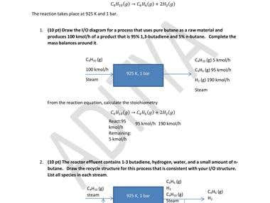 Chemical Engineering Problem 2 - Mass & Energy Balance
