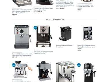 eCommerce Amazon Affiliate Website - LeaderCoffee.com
