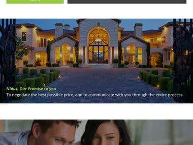 Nidus Real Estate website - Wordpress based.