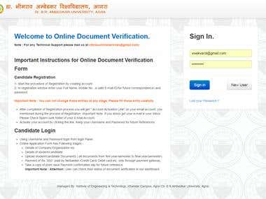DBRAU University Online Verification System with Payment