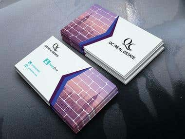 business card for real estate company