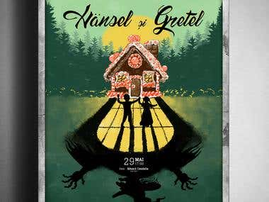 Hansel and Gretel - Theater poster