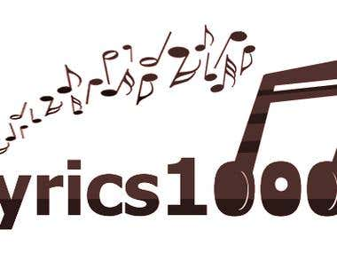 Logo Design for Lyrics1000.Com