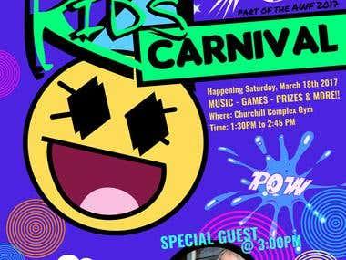Kids Carnival poster design
