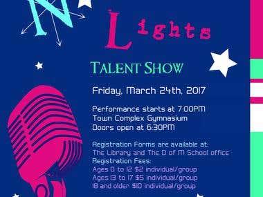 Talent Show poster design