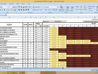 excel eample