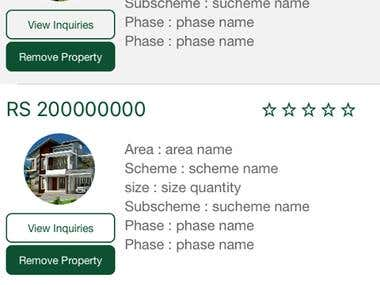 Android & IOS App for Selling Properties