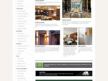 Lexis Lighting Website