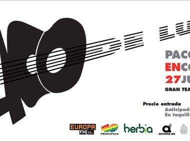 Cartel para un concierto de flamenco