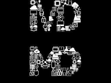 md logo/illustration