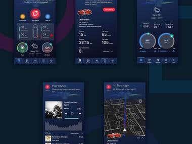 Smart car app designs