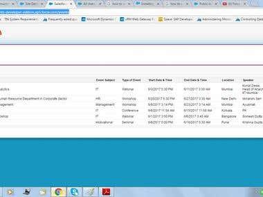 Event Management App Landing Page