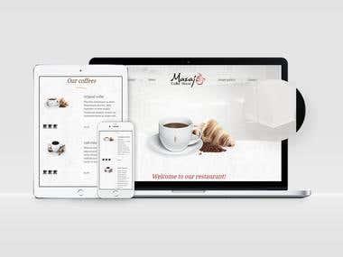 Redesign Mazaj Coffee House website