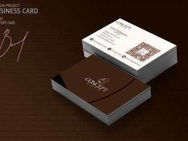 Business card design for Concept Cafe