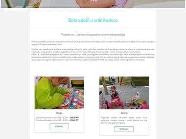 Kockica Kindergarten Website