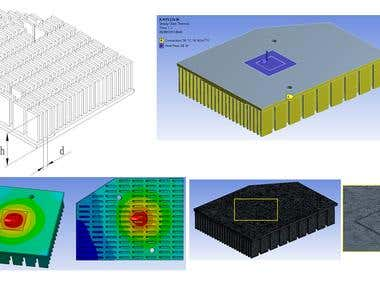 CPU heat sink using ANSYS