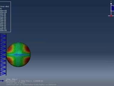 ABAQUS simulation