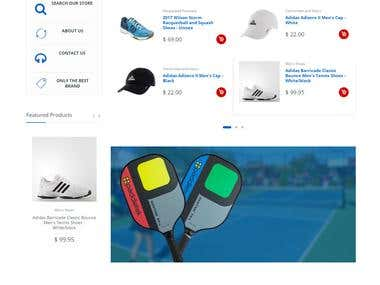 Shopify store for Sports items