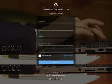 COLLEGE INTERACTION SYSTEM - login and Signup page