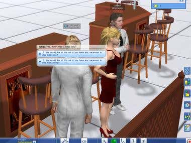 Educational virtual world