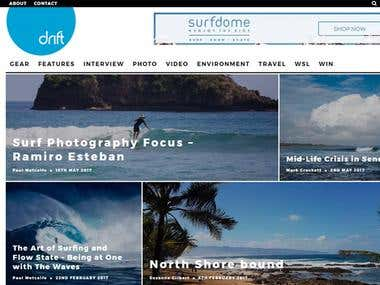 Driftsurfing is a surfing community site.