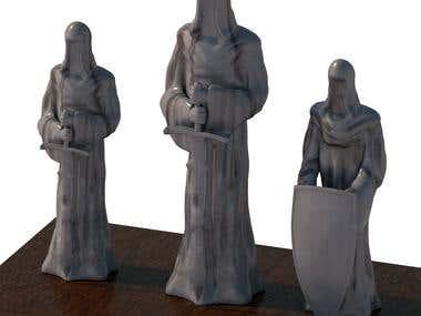 3D models for 3D printing