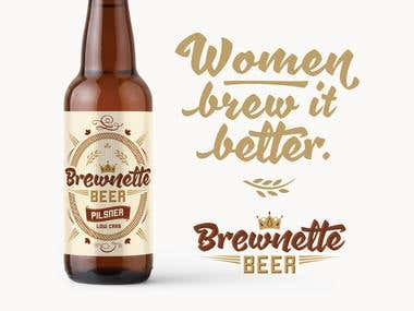 Brewnette Beer / Packaging / Corporate identity