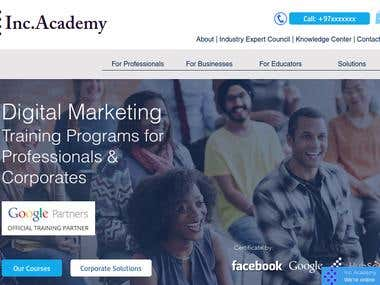 Inc Academy Website