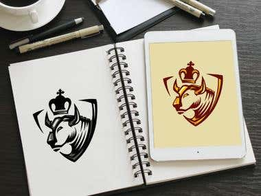 logo royalty bull