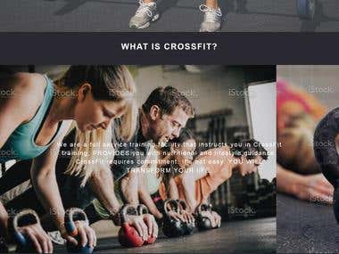 Crossfit Gymnasium Website
