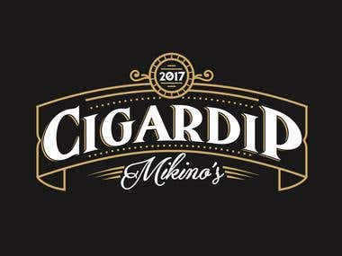 Cigardip logo design