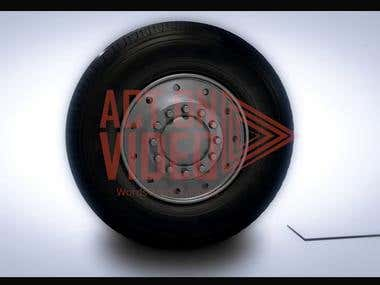 3D Tyre Animation