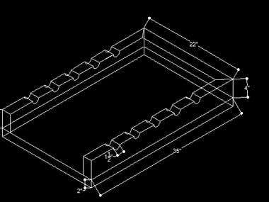Perspective autocad drafting