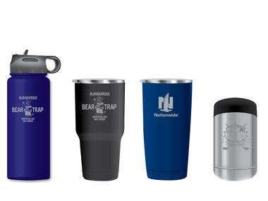 bottle, mug, cup, tumble