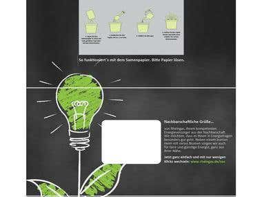 Creative DIN-long mailing in blackboard design