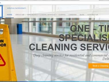 CleanSweep is a home and corportal cleaning service website.
