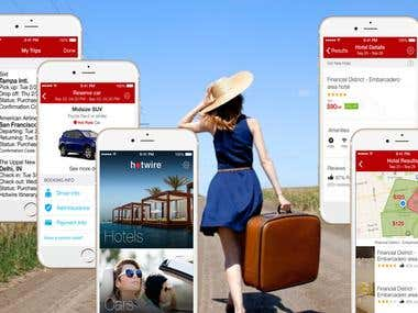 Hotel Deals, Car Rentals, and Last Minute Travel App