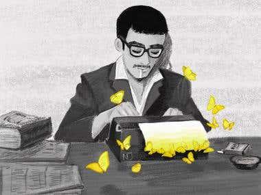 Ilustración hecha en Web's Avenue por Navid Cabrera