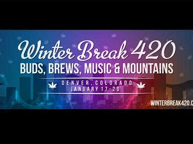 Winter Break 420 Banner