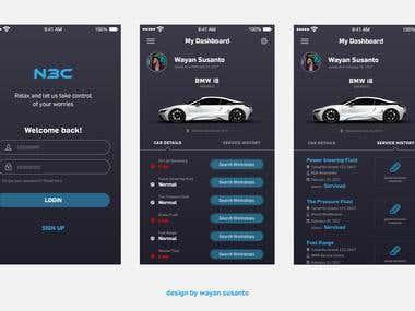 Mobile App Design - Vehicle Monitoring & Service