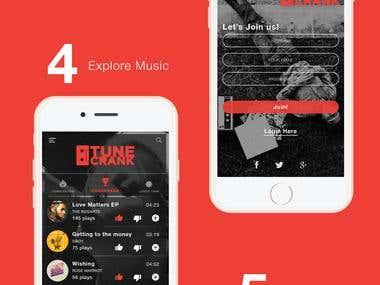 Mobile App Design - Music Streaming App