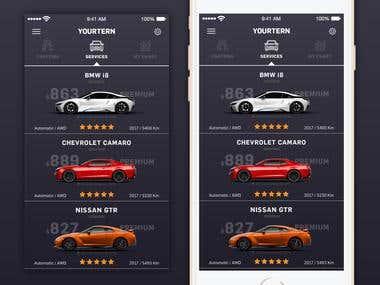 Mobile App Design - Car Rentals