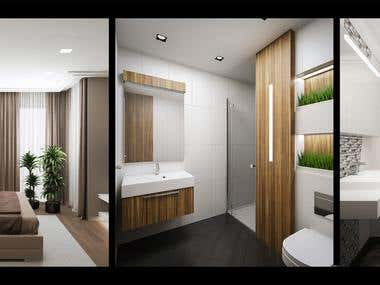 Interior design, 3d modeling and visualization
