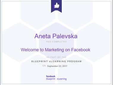Welcome to Marketing on Facebook Certificate