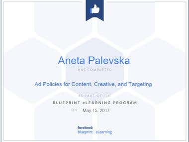 Ad Policies for Content, Creative and Targeting Certificate