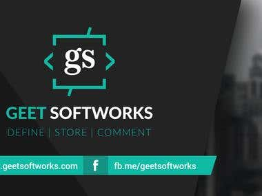 Geet Softworks - Visiting Card - -Front